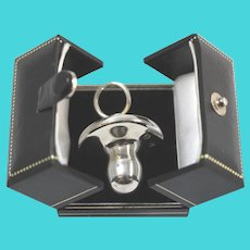English Sterling Silver Pacifier/ Perfume Flask Deeply Hallmarked Screw Top