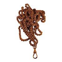 14K Victorian watch chain—60 inches