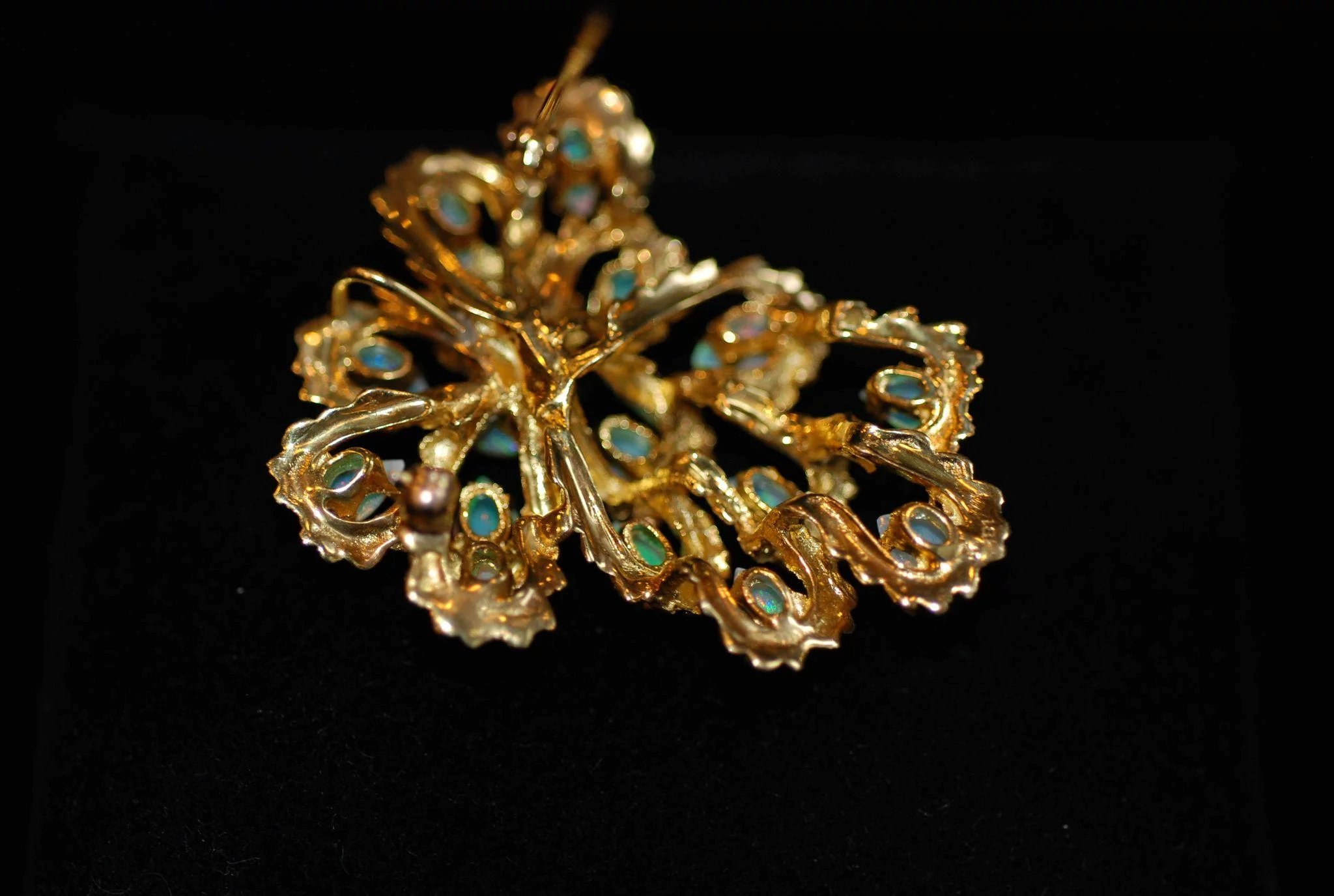 opal nouveau click photo and art diamond brooch to enlarge fabulous french