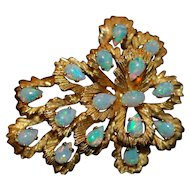 Opal Brooch set in 18K Yellow Gold