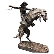 Frederic Remington's 'The Broncho Buster' (Bronco Buster) Pure Silver Cast from Original Mold -- No. 1 of 100