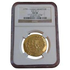 8 Escudos Gold Coin, Mexico