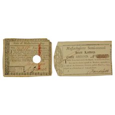 Two Revolutionary War paper goods