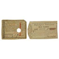 Two Revolutionary War paper goods