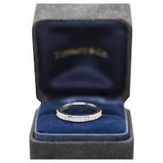 Tiffany & Co 0.35ctw Diamond 2.7mm Platinum Wedding Band Ring