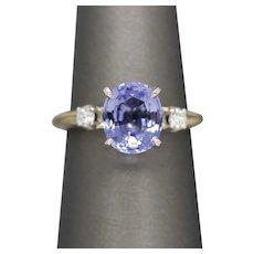 2.52ctw Tanzanite and Diamond Accent Ring, Platinum Head 14k