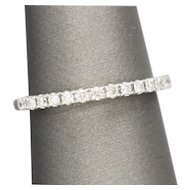 0.25ctw Elegant Diamond Pave Wedding Band Anniversary Ring 14k White Gold