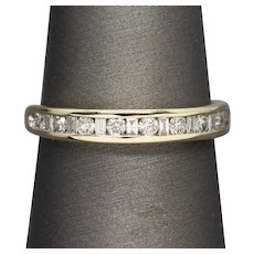 0.50ctw Round and Baguette Diamond Channel Set Wedding Band Ring 14k