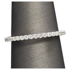 Handcrafted 0.25ctw Prong Set Diamond Wedding Stackable Band Ring 14k White Gold
