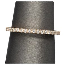 Handcrafted 0.25ctw Prong Set Diamond Wedding Stackable Band 14k Rose Gold