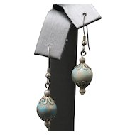 Light Turquoise Sterling Silver Dangle Earrings