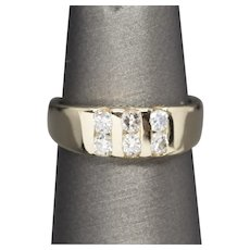 0.40ctw Channel Set Diamond Band Ring 14k, Pinky Ring, Wedding Ring Size 3.25