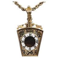 Victorian Watch Fob Pendant Masonic Lodge of EducationKeystone HTWSSTKS Royal Arch Degree