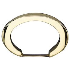 Modernist 18k Yellow Gold Bold Gold Bangle Bracelet Made in Italy