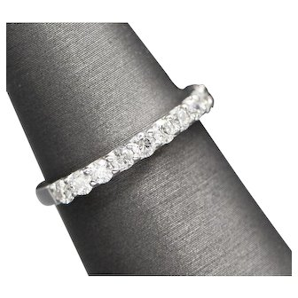 0.65ctw Diamond Stackable Wedding Band Ring 14k White Gold