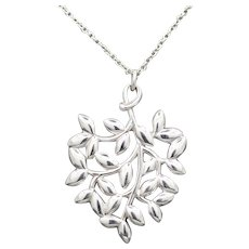 Tiffany and Co Olive Leaf Sterling Silver Necklace by Paloma Picasso