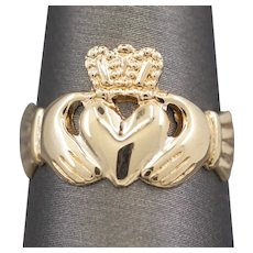 Vintage Irish Claddagh Wedding Ring in 9k Yellow Gold