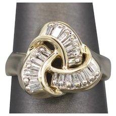 Trinity Knot 0.33ctw Diamond Ring in 14k Yellow Gold