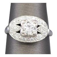 Vintage 0.87ctw Diamond Engagement Ring in Platinum