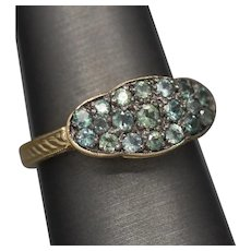 Vintage Alexandrite 0.77ctw Cluster Ring in 14k Yellow Gold by Weinman Bros