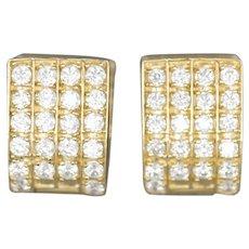 14k Yellow Gold 1.10ctw CZ Huggie Earrings