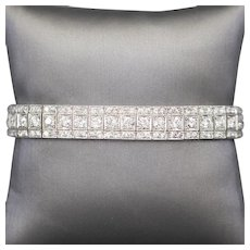 8.75ctw Art Deco Old European Cut Diamond Bracelet in Platinum