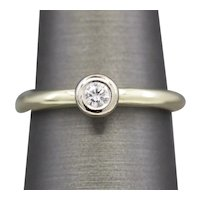 Gorgeous Two Tone Diamond Stackable Ring in 14k Yellow Gold