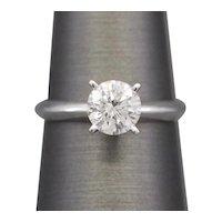 1.31ct Classic Round Diamond Solitaire Engagement Ring in Platinum