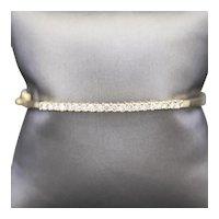 1.00ctw Diamond Hinged Bangle Bracelet in 14k Yellow Gold
