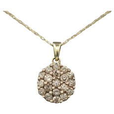 Sparkling Champagne Diamond Pendant Necklace in 10k Yellow Gold
