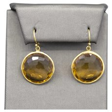 IPPOLITA Lollipop Citrine Drop Earrings in 18k Yellow Gold Size Large