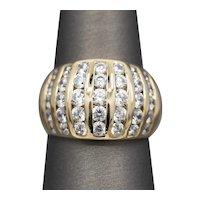 Brilliant Diamond Dome Anniversary Ring in 14k Yellow Gold