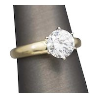 2.00ct Cubic Zirconia Engagement Ring in 14k Yellow Gold