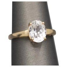Icy Aquamarine Solitaire Ring in 14k Rose Gold