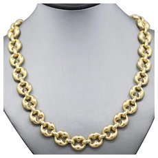Bold Unoaerre Status Link Necklace in 18k Yellow Gold