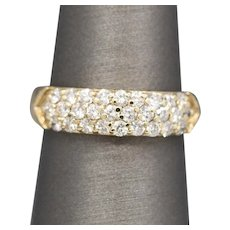 Sparkling 1.00ctw Pave' Diamond Band Ring in 18k Yellow Gold