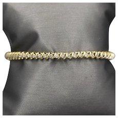 "Classic Champagne Diamond Tennis Bracelet in 14k Yellow Gold 7.5"" 1.50ctw"