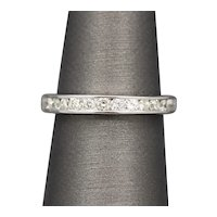 Classic Channel Set Diamond Band Ring in 14k White Gold