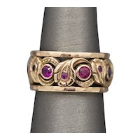 Retro Ruby Eternity Band Ring in 14k Rose Gold