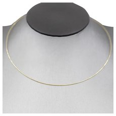 0.7mm Diamond Cut Neckwire Necklace in 14k Yellow Gold
