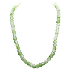 Vintage African Recycled Sea Glass Bead Necklace