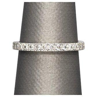 Authentic Tiffany and Co Novo Half Circle 0.34ctw Diamond Platinum 950 Wedding Band Ring