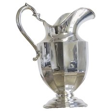Vintage Mexican Sterling Silver Plated Pitcher