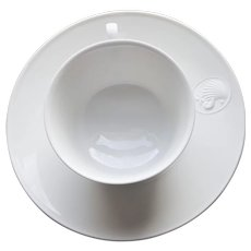 Royal Berlin White Arcadia Tea Cup and Saucer