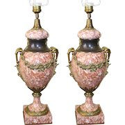 Pair of Quality Marble & Ormolu Table Lamps