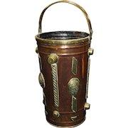 Late 19th c. Arts & Crafts Copper & Brass Umbrella Stand