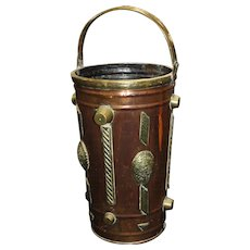 Late 19th c. Arts & Crafts Copper & Brass Umbrella Stand