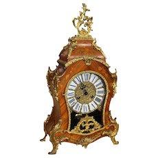 Louis XV Style Inlaid Bracket Clock