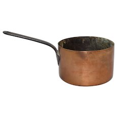 Large Antique Early 19th c. Copper Saucepan