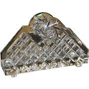 Fine Cut Glass Stourbridge Crystal Letter Rack